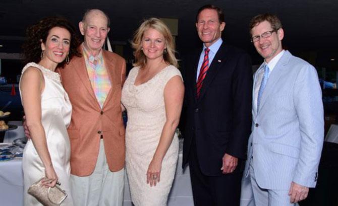 Amy Vischio, Jack Moffly, Trish Kirsch, Sen. Richard Blumenthal, and Jonathan Moffly