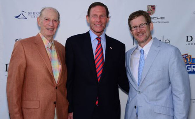 Jack Moffly, Sen Richard Blumenthal, and Jonathan Moffly