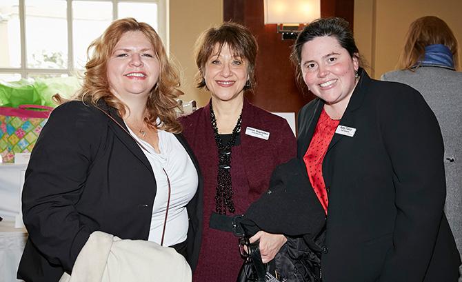 Elizabeth Schiavone, Elaine Guglielmo and Katy Tucci