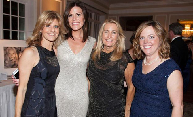 Committee Chairs Sharon Platter, Brooke Bohnsack and Gina Filippelli with President and CEO Pam Keough