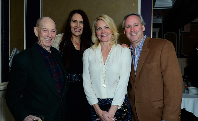 Jack Moffly, Juliana Spain with Lisa and Jeff Hingst