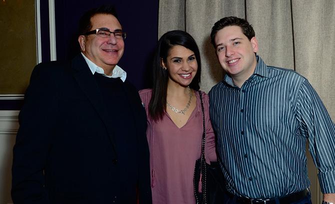 Bill and Daniella Delfino with Dustin Brenner