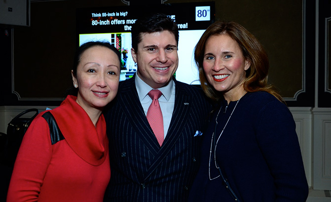 Lin and Rob Weintraub with Jennifer Petersen