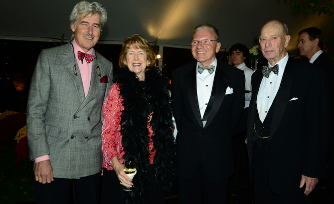 Peter Layne Arguimbau, Donna Moffly, Thomas Peterffy and Jack Moffly