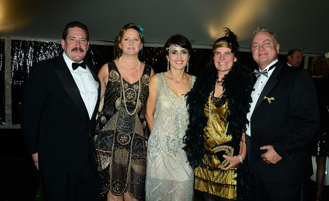 David and Alicia Blair, Flavia Harris, Nancy Chapin and Rick Harris