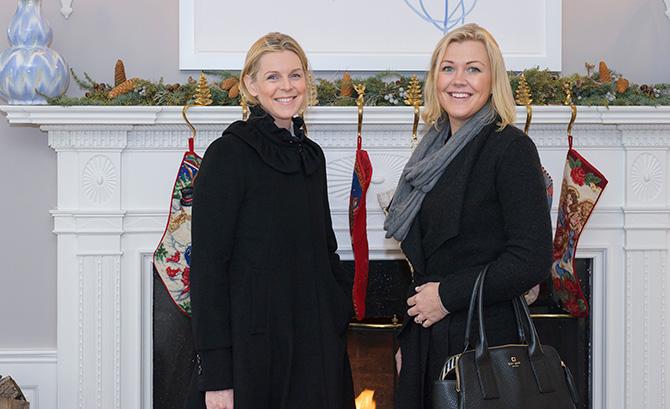 Kirstine Soderberg and Liz Roberts