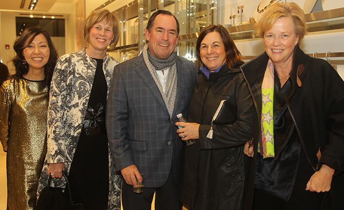 Sue Neumann, Winnie Curry, Jim and Linda Waterbury with Maureen Carey