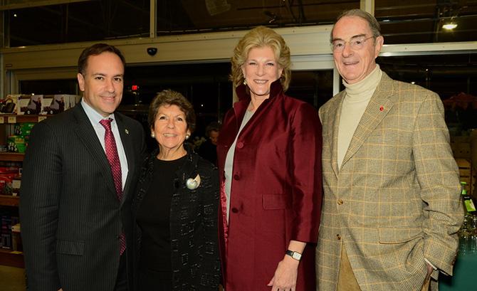 Peter Tesei, Sue Baker, Leslie Lee and Peter Malkin