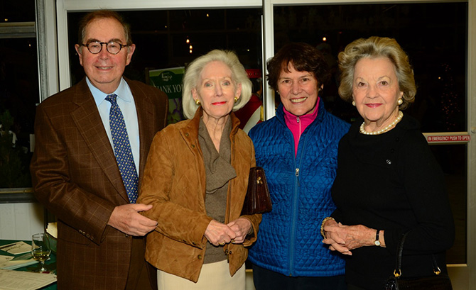 Ronald and Davvidde Strackbein, Jan Marchand and Jeanne Host