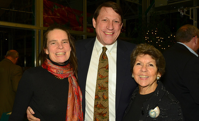 Nancy and Andy Chapin with Sue Baker