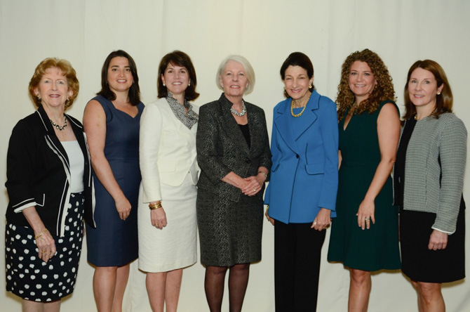 Donna Moffly, Danielle Eason, Callie Sullivan, Judy Tabar, Olympia Snowe, Erica Buchsbaum, Sheila Mossman