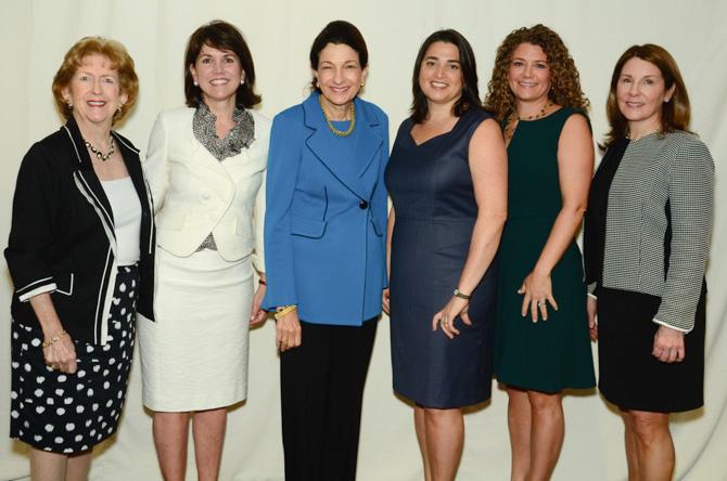 Donna Moffly, Callie Sullivan, Olympia Snowe, Danielle Eason, Erica Buchsbaum, Sheila Mossman