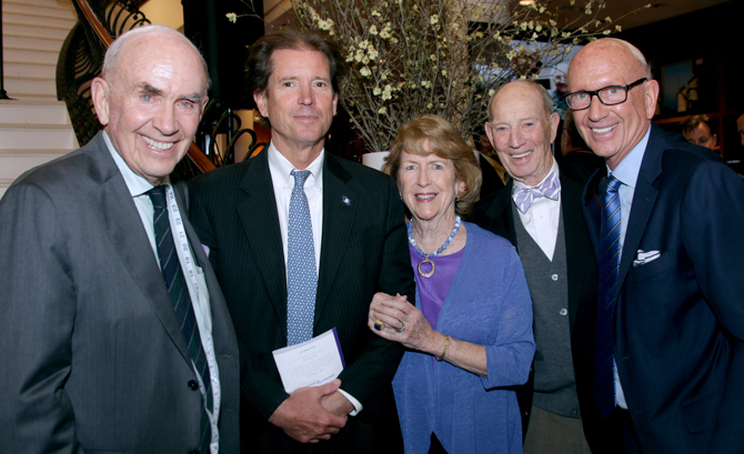 Jack Mitchell, Scott Frantz, Donna and Jack Moffly, Bill Mitchell - <em>Photo: Kristin Burke Hynes</em>