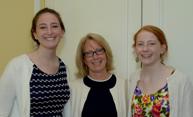 Guest Speaker Patrice Comey (Wife of James Comey, Director of FBI) with daughters Claire and Abby Comey