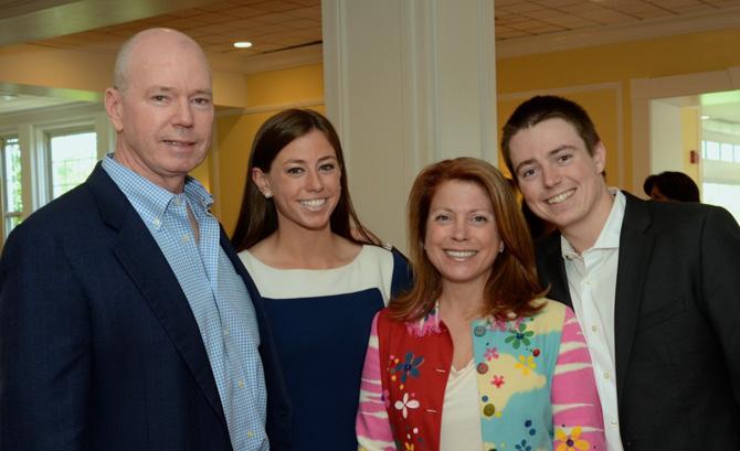 Outstanding Volunteer Award winner Kim Ambrose  with Family - David, Jessie, Kim and Jack Ambrose