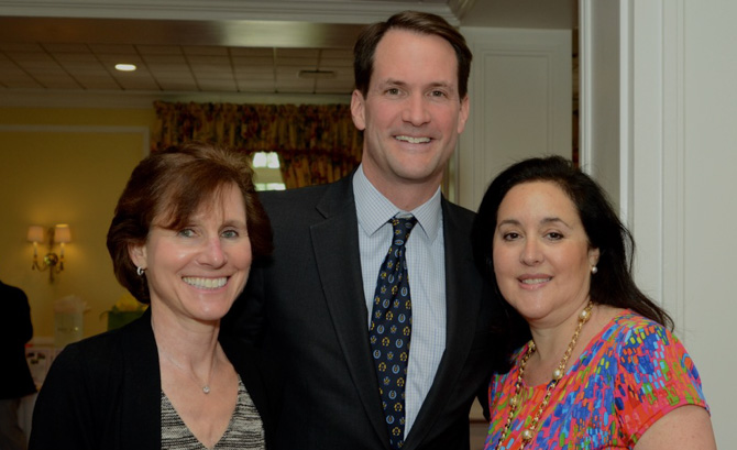 Elaine Harris, Jim Himes, and Stacey Sobel (Executive Director of CAC)