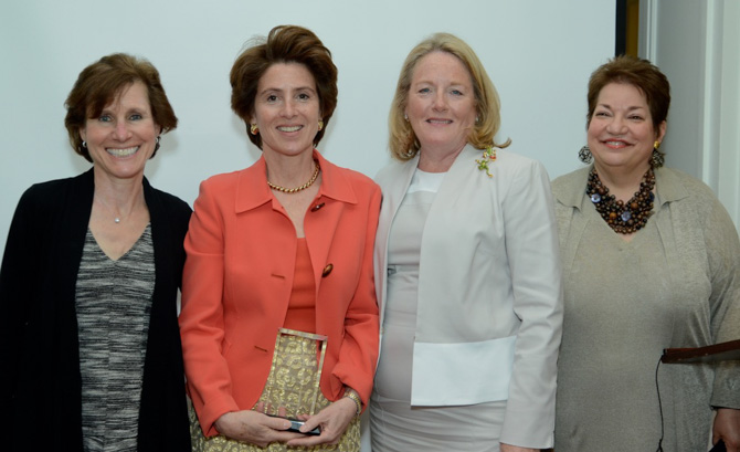 Elaine Harris, Cynthia Blumenthal, Cathy Malloy (First Lady of CT) and Pat Russo