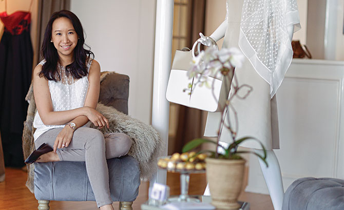 Katie Fong in her new bright and airy boutique