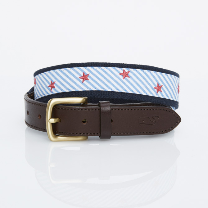 Stripes & Stars Embroidered Seersucker Best in Moonshine ($49.50)