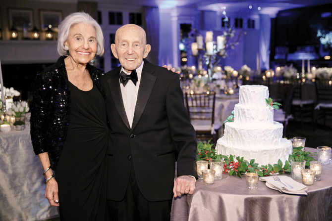 The bride's grandparents Faye and Greg Egiziano