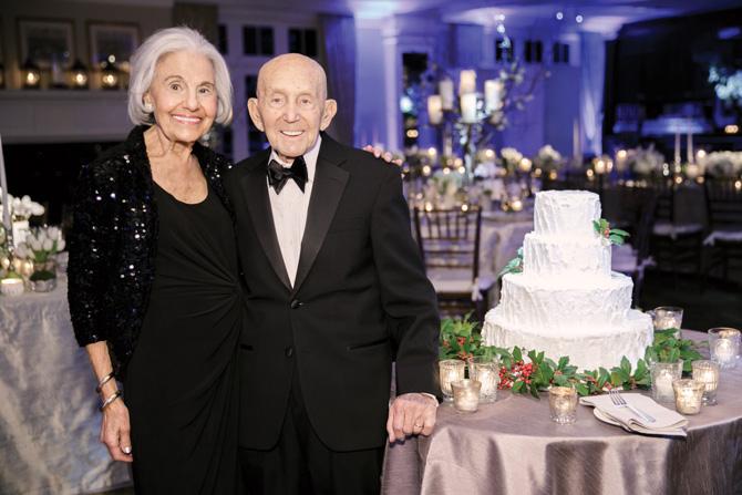 The bride's grandparents Faye and Greg Egiziano