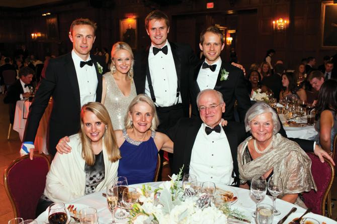 (standing) Chris and Chrissy Ward, John Belton, Jon Weigel; (seated) Louise, Anne and Howard Ward, Deborah Huffard