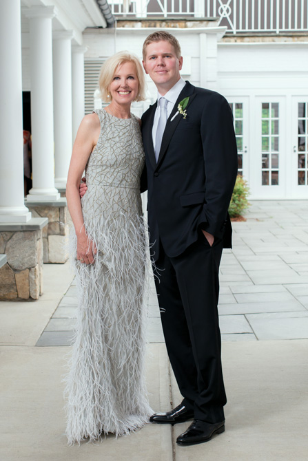 Perry Johnston with her son, the groom