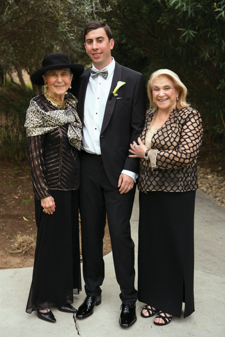Alex with his grandmothers, Lee Katz and Rhoda Shemin