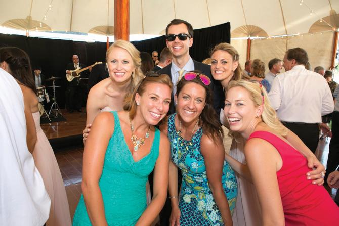 (back row) Amanda Vogt, Blake Connor, Caitlin Levys (front row) Ann Cipoletti, Blair Adams Soden, Lauren Parry Faulkner