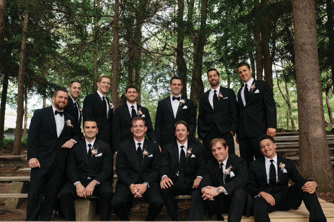 Patrick with the groomsmen (several are Greenwich High friends)
