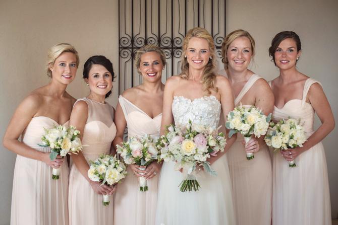 Kristina Weekley, Jacqueline Moore, Molly Hoffman, the bride, Meredith Humphreys, Erin Fink