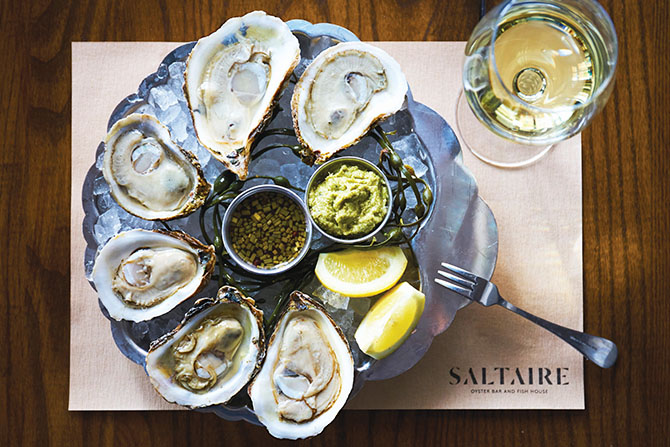 Oysters on the Half Shell with Saltaire signature sauces