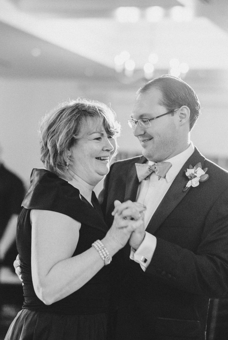 The groom dancing with his mother, Karen Evans