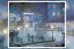 Place de Rome at Night, 1905 oil on canvas by Theodore Earl Butler