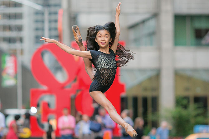 Kayla Mak, daughter of a Beam & Barre employee, danced in the most recent Radio City Christmas Spectacular.