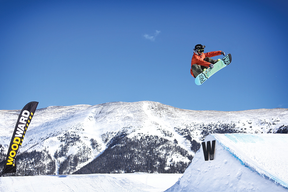 A Copper Mountain School student takes the tricks he learned indoors to the great outdoors