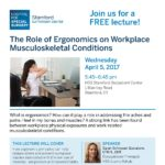 April 2017 Role of Ergonomics on Workplace MSK Conditions v2