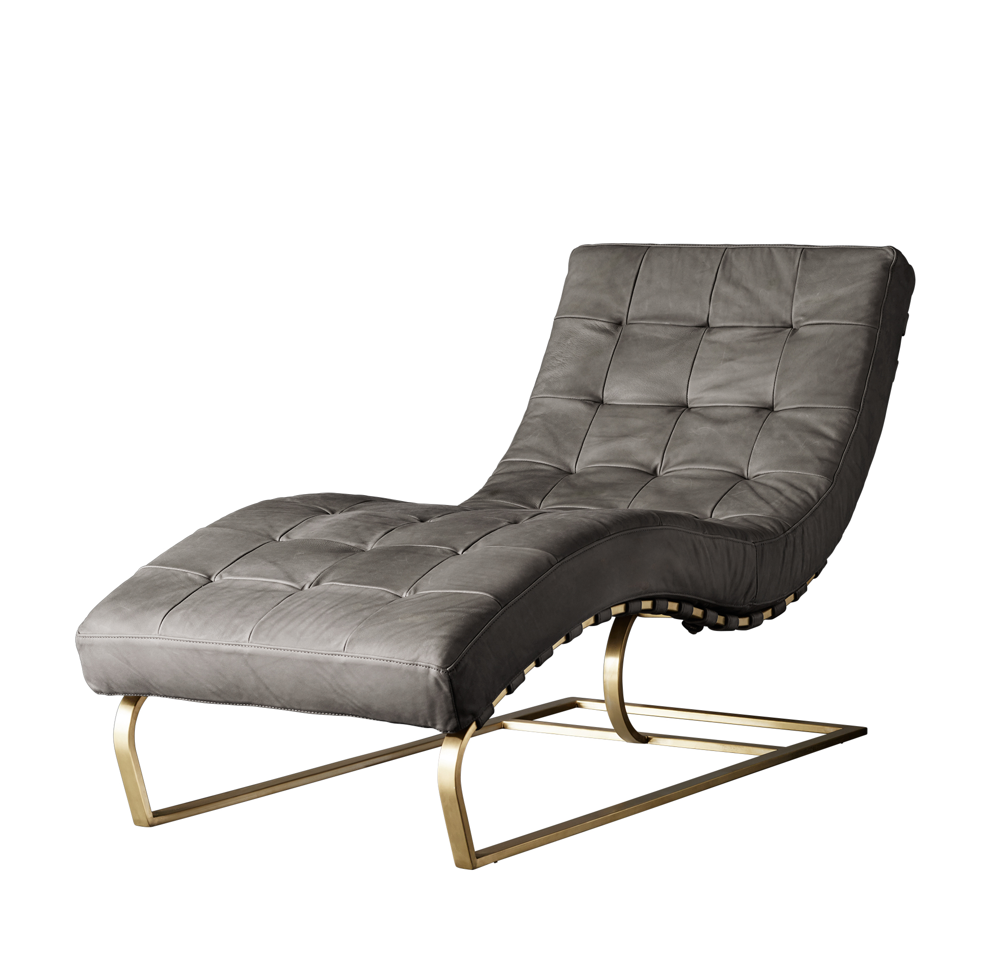ROSSI TUFTED LEATHER CHAISE (RHModern.com)-2