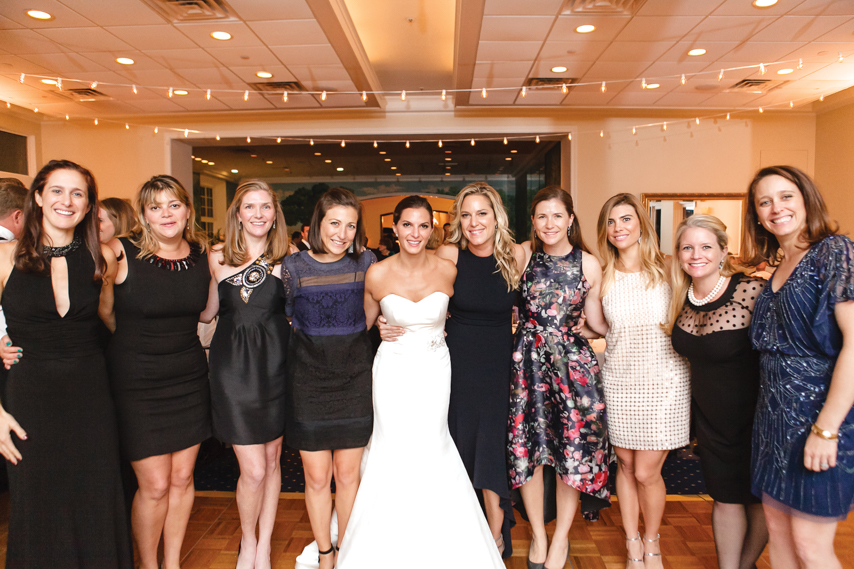 The bride with fellow Greenwich Academy alumni