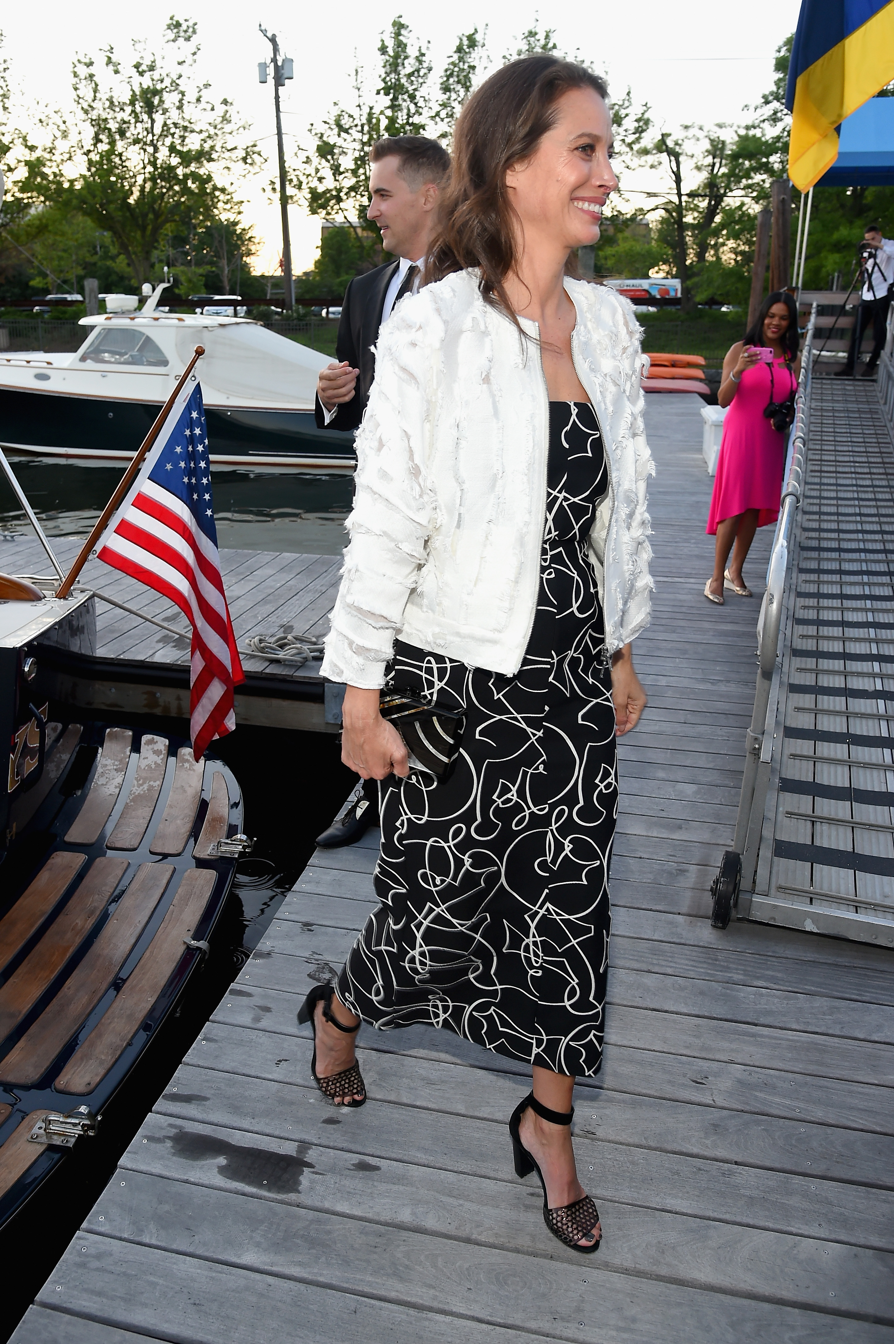 GREENWICH, CT - JUNE 01:  Christy Turlington attends the Changemaker Boat Ride during the Greenwich International Film Festival, Day 1 on June 1, 2017 in Greenwich, Connecticut.  (Photo by Ben Gabbe/Getty Images for Greenwich International Film Festival)