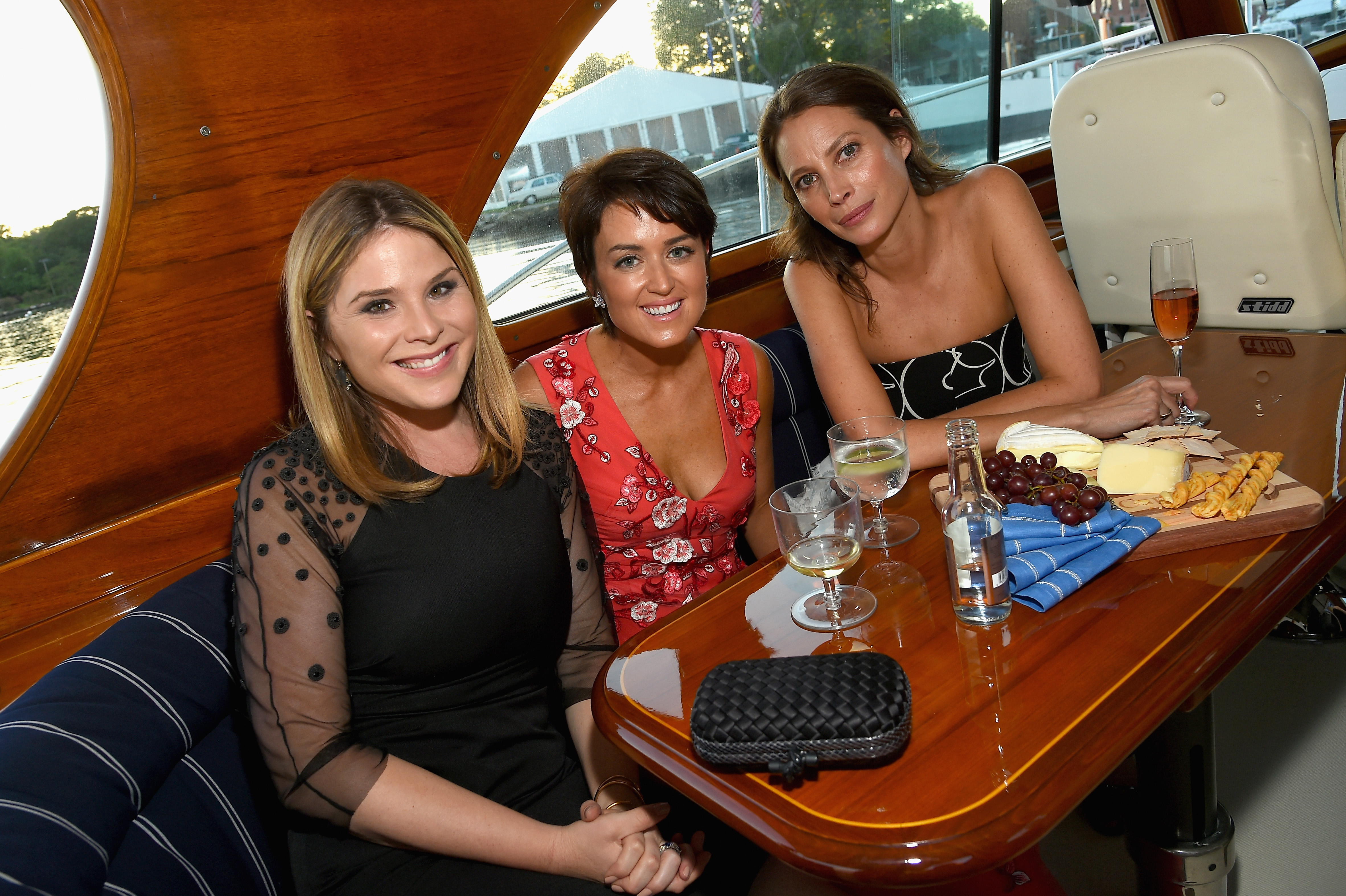 GREENWICH, CT - JUNE 01:  (L-R) Jenna Bush Hager, Wendy Reyes and Christy Turlington attend the Changemaker Boat Ride during the Greenwich International Film Festival, Day 1 on June 1, 2017 in Greenwich, Connecticut.  (Photo by Ben Gabbe/Getty Images for Greenwich International Film Festival)