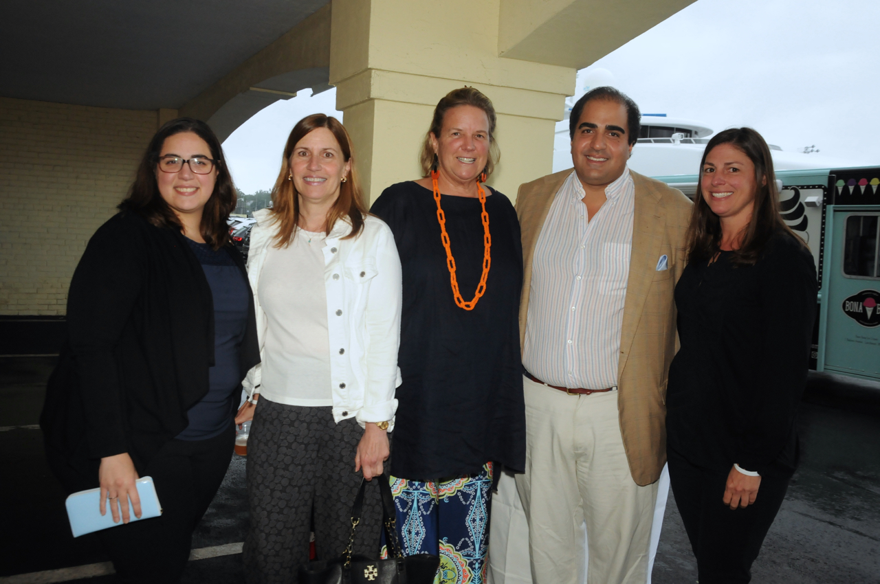 Angela Rende, Elaine Grant, Sue Scully, Shahryar Oveissi, Heather Brown<br><em>Photograph: Bob Capazzo</em>