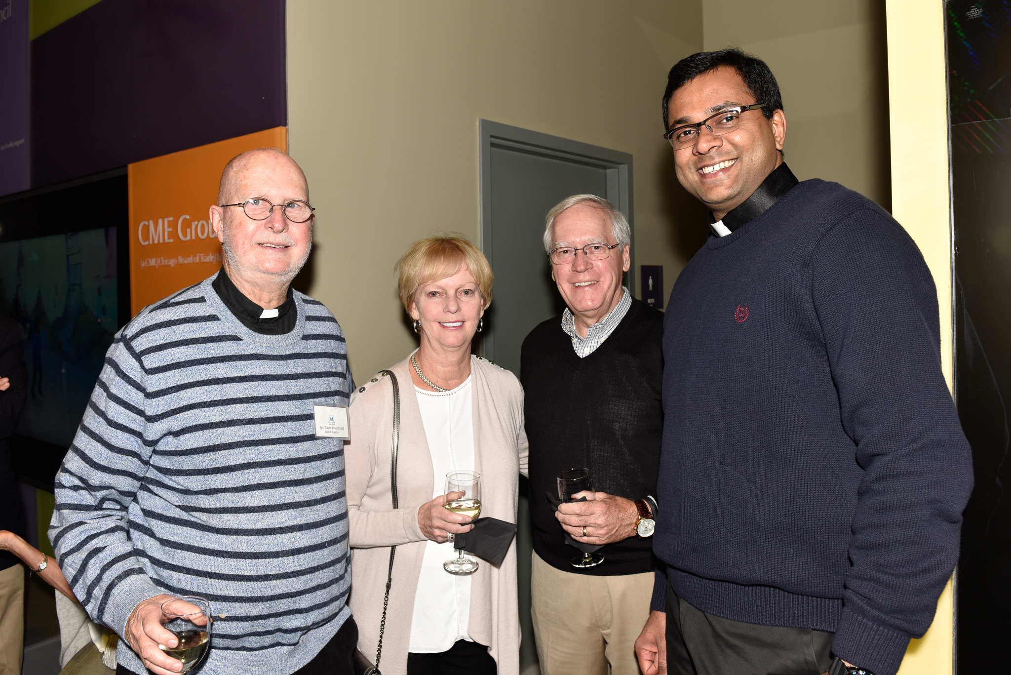 Father David Blanchfield, Linda Blase, Bill Blase, Father Royjon