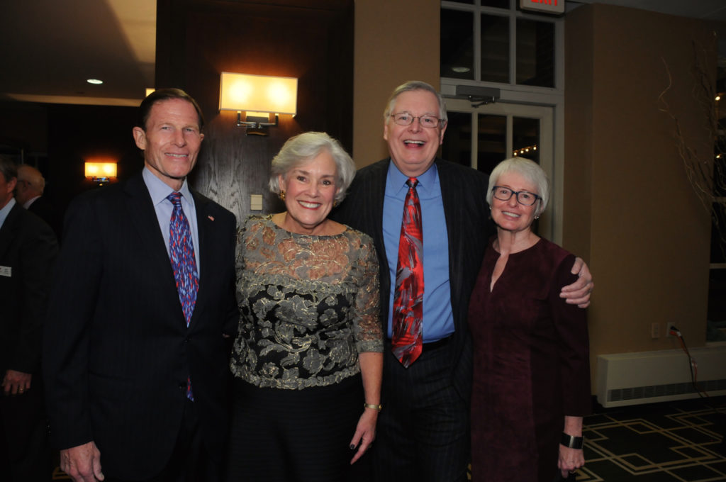 Sen. Richard Blumenthal, Cece Maher, Mayor David Martin, Lynne Martin