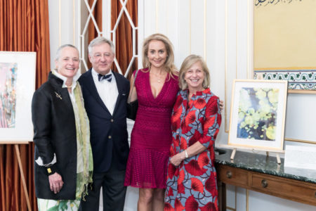 Lily Downing, David Yudain, Felicity Kostakis, Lisa Ghriskey (artist of painting to the right)