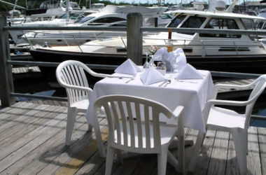 Why drive to a restaurant when you can sail up to one instead?