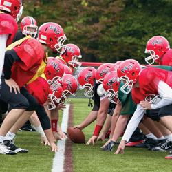 Rivals Darien High School and New Canaan High School prep for the big Turkey Bowl showdown with the new breed of student-athlete