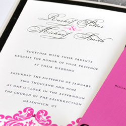 Gourmet wedding invitations