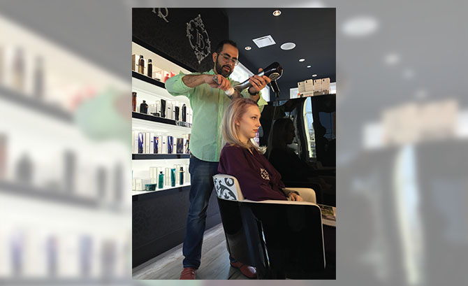 Le Boudoir founder Mamoune Tazi gives Brooke Hascoe an expert blowout.