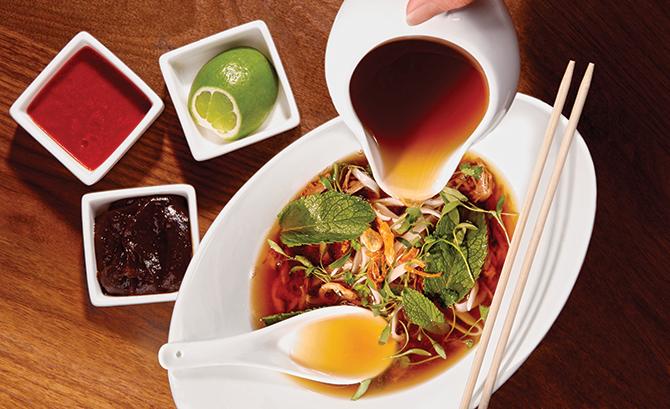 Vietnamese Chicken Noodle Soup with ramen noodles
